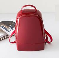 Рюкзак сумка женский силиконовый для девушек в стиле Furla Candy (красный), фото 1