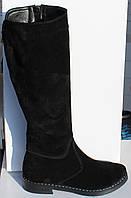 Женские замшевые зимние сапоги на низком ходу от производителя модель НП1000, фото 1