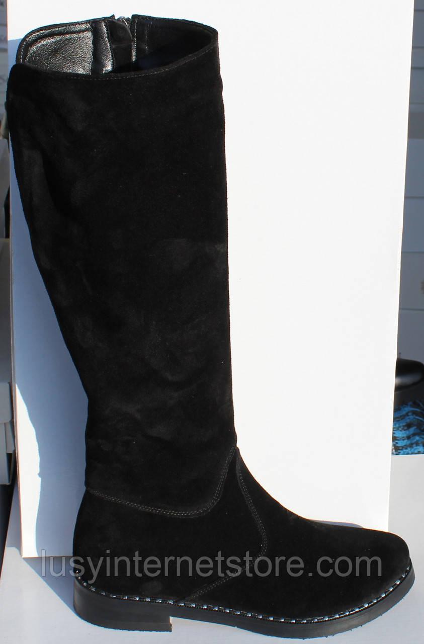 732547116 Женские замшевые зимние сапоги на низком ходу от производителя модель  НП1000 - Lusy в Харькове