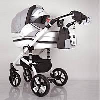 Детская коляска 2 в 1 Macan White-Grey, фото 1