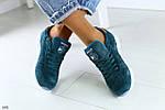 Женские кроссовкив стиле  Reebok Classic натуральная замша изумруд
