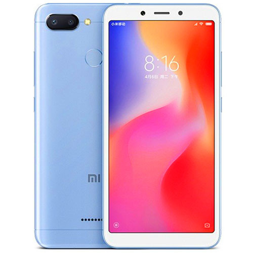 Смартфон Xiaomi Redmi 6 3/32Gb Blue Global firmware (CN) 12 мес