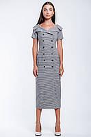 Двубортное платье длиной миди, фото 1