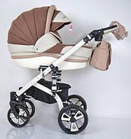 Детская коляска 2 в 1 Macan, White-Brown, фото 1
