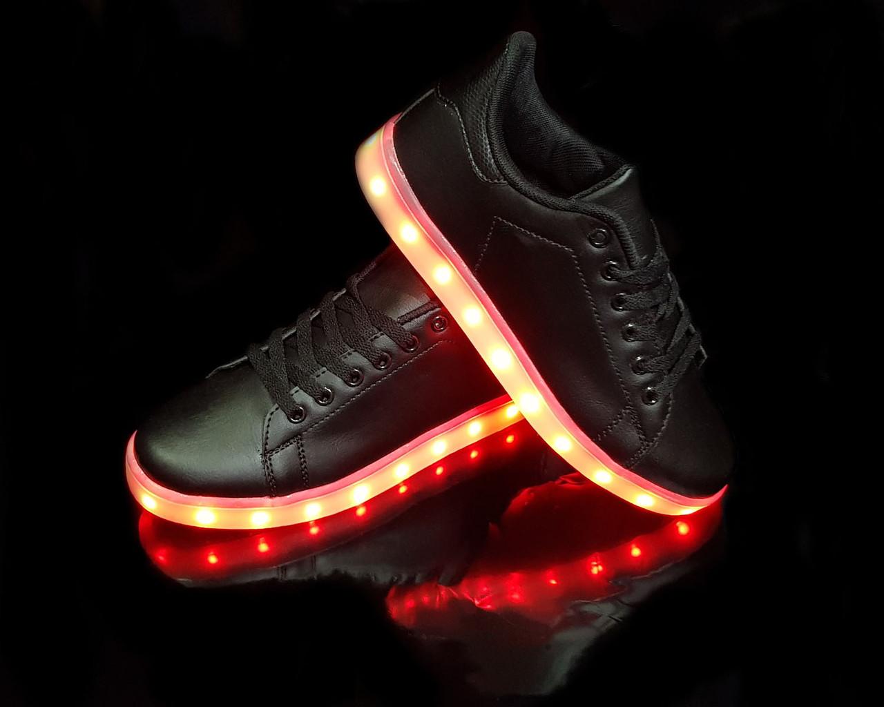 Кроссовки с LED подсветкой унисекс Black 651