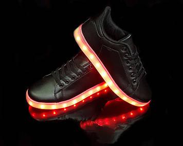 Кроссовки светящиеся Black 651