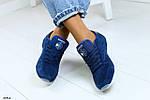 Женские кроссовки в стиле Reebok Classic натуральная замша синий