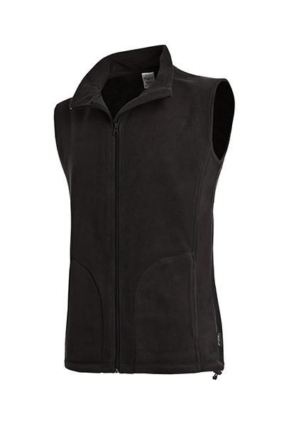 Флисовая жилетка мужская черная Stedman - BLOСТ5010