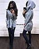 Женское пальто-кардиган с капюшоном в расцветках. БЛ-2-0918, фото 3