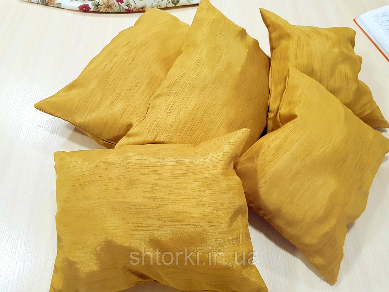 Комплект подушек  Стелла золото матовое 5шт