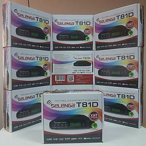 Цифровой эфирный DVB-T2 ресивер приставка тюнер декодер Selenga T81D IPTV YouTube MeGoGo