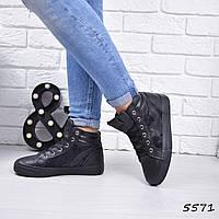 Кеды женские Fusion черные  5571, кеды женские осенняя обувь, фото 1