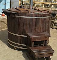 Офуро, Японская баня, 1300л, 1,3х1,2 м, термоясень