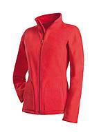 Флисовая кофта женская красная Stedman - Red CT5100