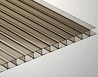 Сотовый поликарбонат Ecopol 10 мм, размер листа 2100х12000 мм, бронзовый