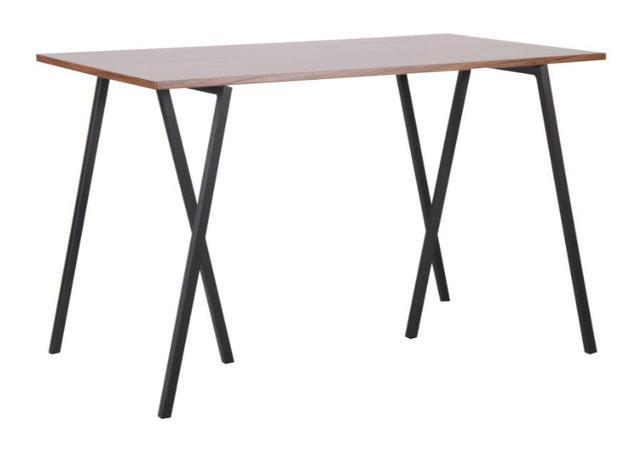 Стол обеденный Роберто DT-1720 черный, МДФ орех
