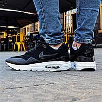 Мужские кроссовки Nike Air Max Ultra Moire Black white. Топ качество. Живое фото! (Реплика ААА+)