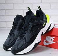 Мужские кроссовки Nike M2K Tekno Black Volt. Живое фото. Топ реплика ААА+