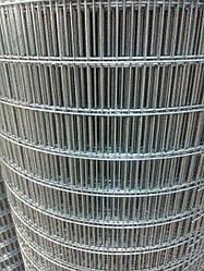 Сварная оцинкованная сетка для клеток 75*12,5*2 ширина 1м