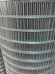 Сварная оцинкованная сетка для клеток 75*12,5*2,5 ширина 1м