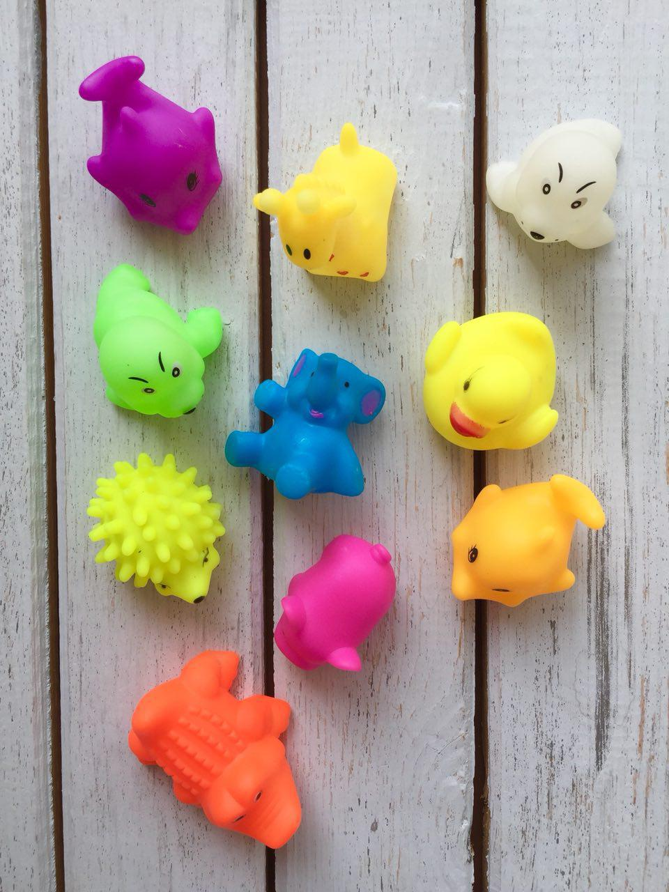 Игрушки-пищалки  для купания 5 шт, фото 1