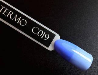 Гель-лак Komilfo DeLuxe Termo №C019 (насыщенный голубой, при нагревании — бледно-голубой), 8 мл