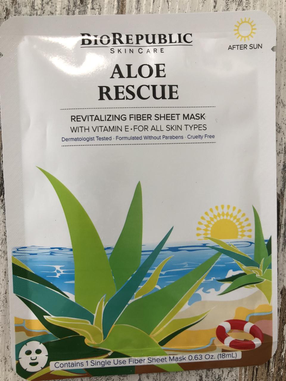Тканевая маска с алоэ для сухой кожи BIOREPUBLIC Aloe Rescue