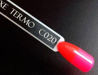 Гель-лак Komilfo DeLuxe Termo №C020 (яркий красный, при нагревании — яркий розовый), 8 мл