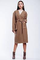 Пальто-кардиган женский с поясом