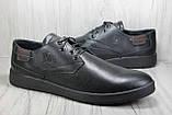 Шкіряні чоловічі туфлі туфлі, мокасини великих розмірів:47,48, фото 4