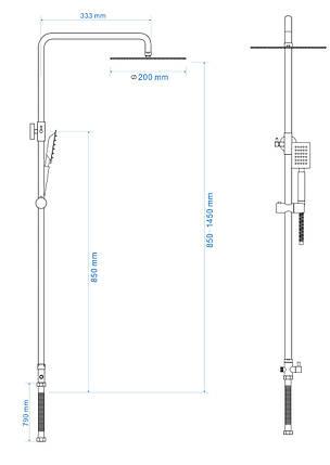 Душевая система L-118 ROZZY JENORI RS 5011, фото 2