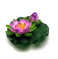 Цветок лотоса с бутоном плавающий (14 см)