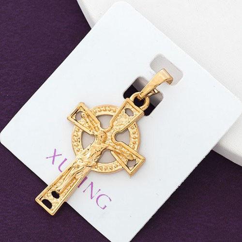 Крестик XUPING 1380, медицинское золото, позолота 18К