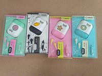 Гарнитура наушники для телефона MC125 Macarons + микрофон и чехол