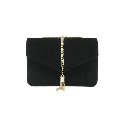 Черная велюровая сумка