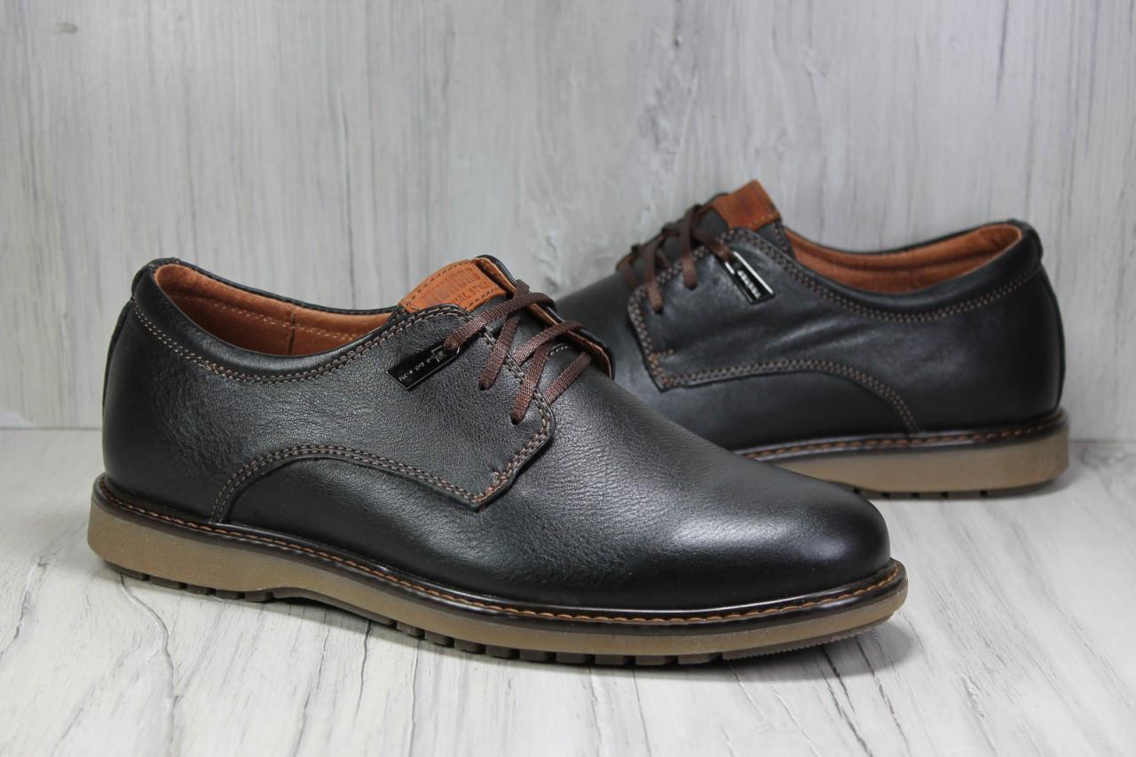 2293a789f Мужские осенние туфли без каблука натуральная кожа, цена 1 050 грн ...