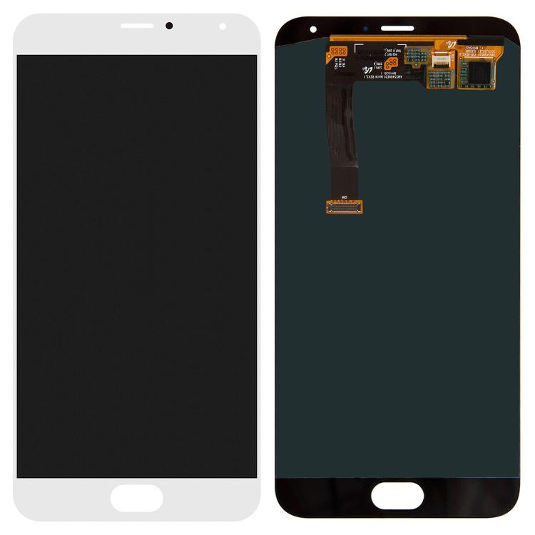 Дисплей для Meizu MX5 (M575) с тачскрином белый Оригинал