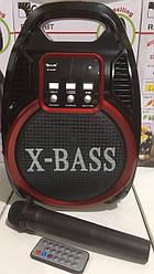 Колонка-комбик GOLON RX-820 BT Bluetooth + MP3, радиомикрофон, пульт, цветомузыка