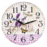 """Настенные часы """"Бабочки Прованс"""" 29 см"""