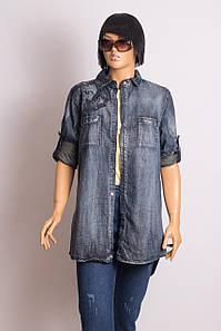 Рубашка - Туника женская ANOTHER DENIM 217101 DARK BLUE WITH BIRD