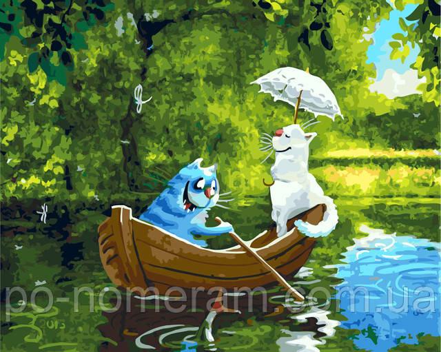 картина по номерам синие коты