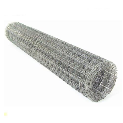 Сварная оцинкованная сетка для клеток 25*25*2 ширина 1м