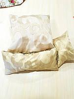 Комплект подушек  Завитки беж, 3шт, фото 1