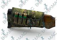 Патронташ на приклад на 6 патронов камуфляж, фото 1