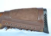Патронташ на приклад кожа со вставкой кобинированый, фото 1