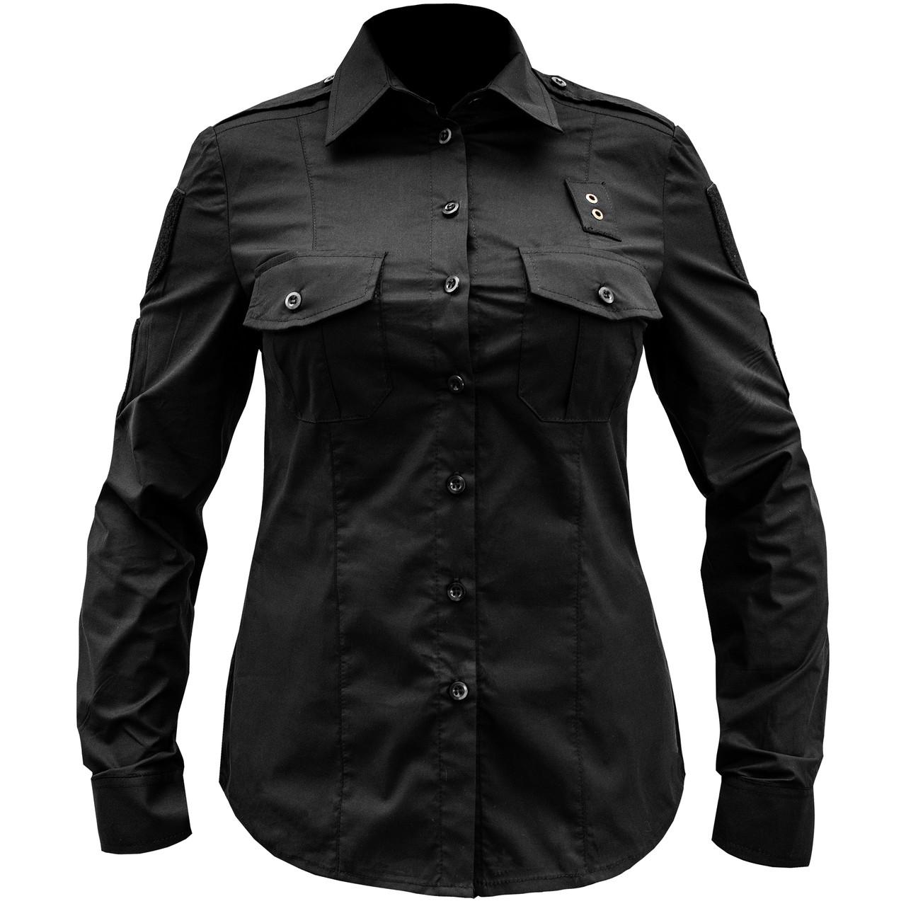 Рубашка женская полицейская (ЧЕРНАЯ)