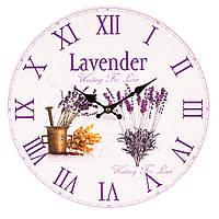 "Милые настенные часы ""Лаванда"" 34 см МДФ, фото 1"
