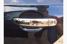 Хромированные накладки на ручки (4 шт, нержавейка) Тюнинг Volkswagen Jetta 2006-2011 гг.