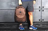 Стильный городской спортивный рюкзак Nike, цвет коричневый с черным