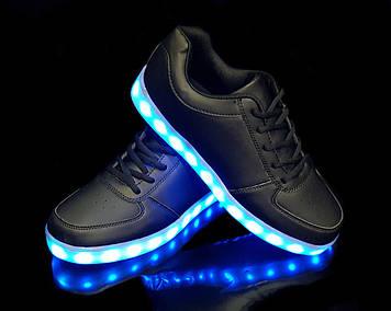 Кроссовки светящиеся Black 1410
